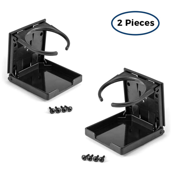 2pcs Foldable Cup Holder for Cars Strollers Bicycles Wheelchairs