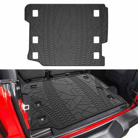 All Weather Protection Cargo Mats for 2018 2019 2020 Jeep Wrangler JL 4 Door
