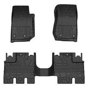 All-Weather Front & Rear Complete Set for 2014-2018 Jeep Wrangler JK Unlimited JKU 4-Door
