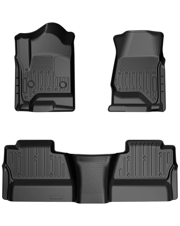 All Weather Floor Mats for Chevy Silverado Crew Cab 2014-2018