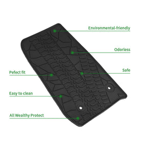 All Weather Floor Mats Liners For Jeep Wrangler JK Unlimited 4 Doors 2014-2018