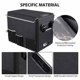 Insulated Protective Cover Transit Bag for 40L (42 Quart) Portable Refrigerator Fridge