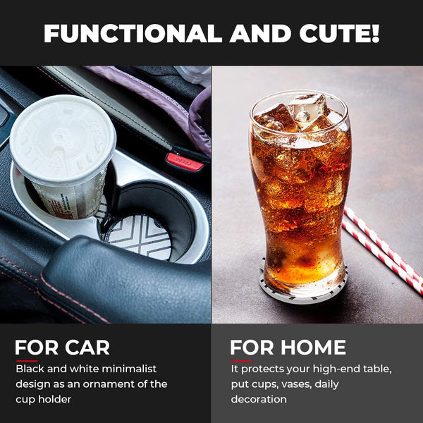 6pcs Car Coasters Absorbent Ceramic Car Cup Holder