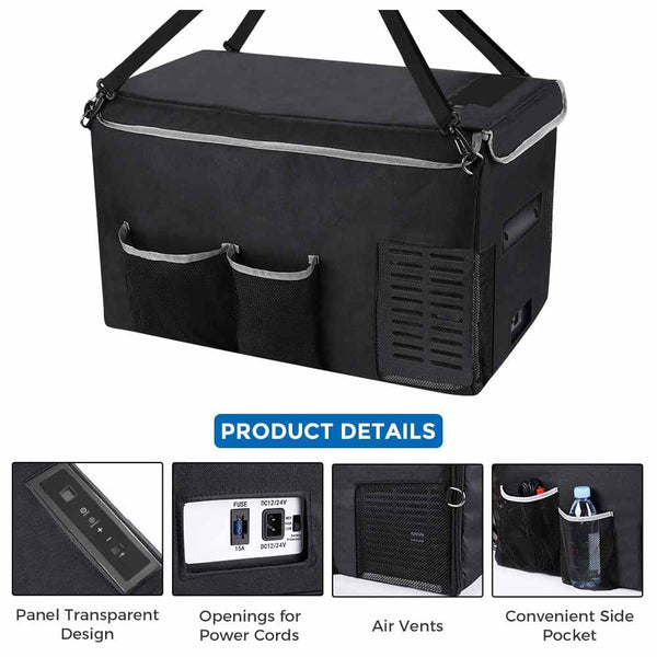 Insulated Protective Cover Transit Bag for 25L (26 Quart) Portable Refrigerator Fridge