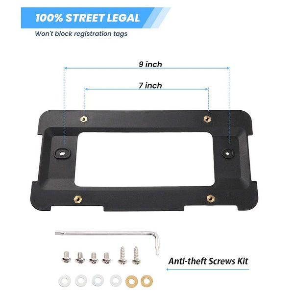 Rear License Plate Bracket Frame Mount for BMW 1 to 6 Series Replaces 51187160607& 51188238061