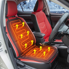 2pcs Electric Car Heated Cushion with temperature control