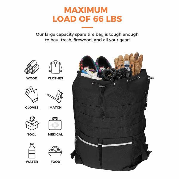 Large Capacity Spare Tire Storage Bag