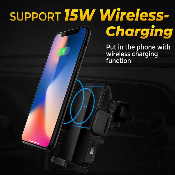 15W Wireless Car Charger Qi Fast Charging & Magnetic Fast Charging