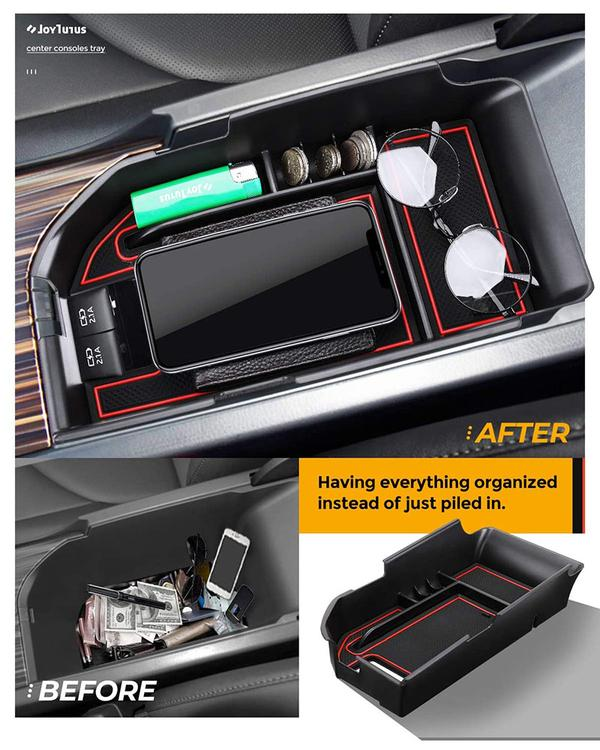 Center Console Organizer Tray For Toyota Camry XLE/XSE & Car Coin Holder Change Organizer