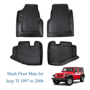 JoyTutus 4-Door Floor Mats For Jeep Wrangler TJ/LJ