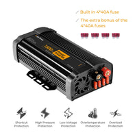 JoyTutus 1500W Power Inverter with Dual AC Outputs Dual USB Charger