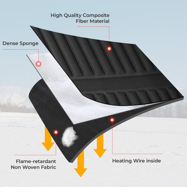 Universal Electric Car Heated Cushion with temperature control