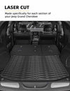 All-Weather Full Set Protection Floor Mats & Trunk Mat for 2016-2020 Jeep Grand Cherokee