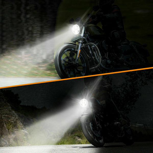 5.75 Inch Projector Headlight Halo DRL LED Light for Harley Softail Sportster