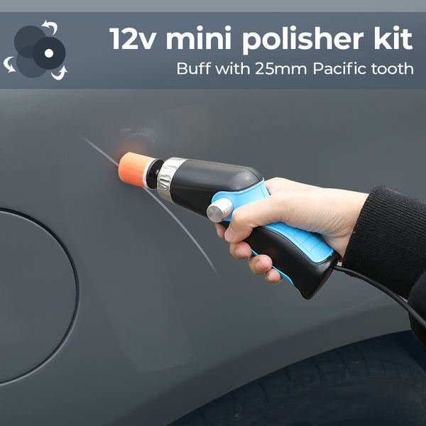 12V Mini Car Buffer Polisher Kit With 3 Polishing Pads For Removing Car Scratch