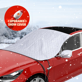 Universal Windshield Snow Cover with Mirror Covers & Hooks Fits