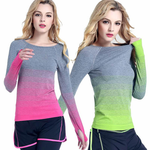 JJunLiM Colored Longsleeve Yoga Top