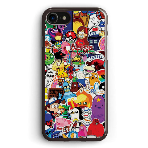 A Set of Posters and Stickers of Cartoon Apple iPhone 7 Case Cover ISVB387