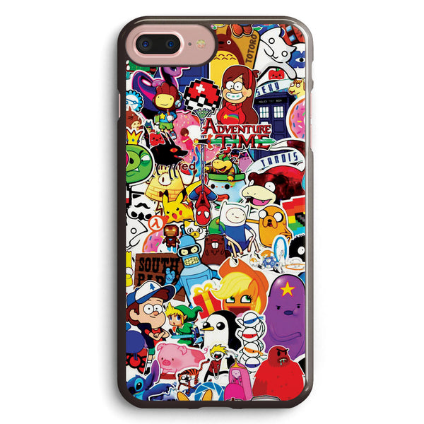 A Set of Posters and Stickers of Cartoon Apple iPhone 7 Plus Case Cover ISVB387