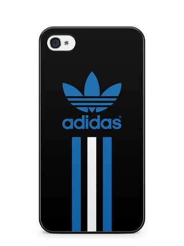 Adidas Blue and White Stripe Apple iPhone 4 / iPhone 4S Case Cover ISVA473