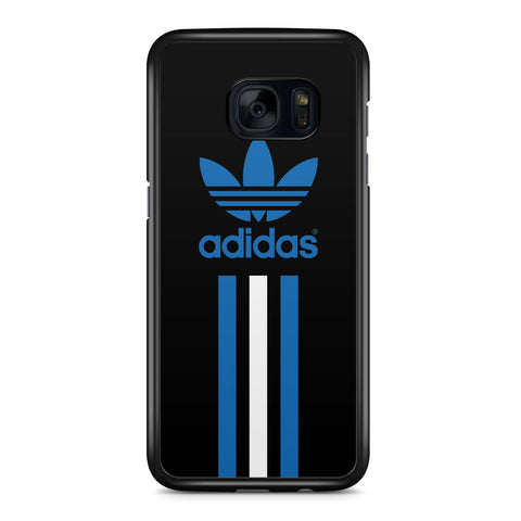 Adidas Blue and White Stripe Samsung Galaxy S7 Edge Case Cover ISVA473