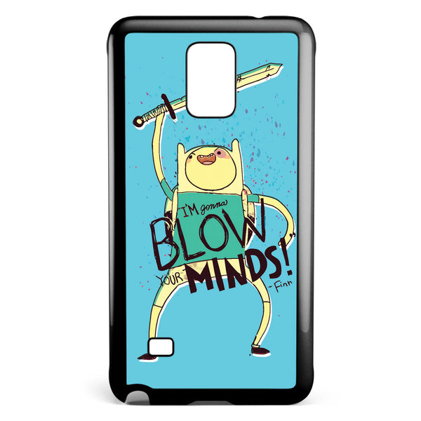 Adventure Time Finn Blow Minds Samsung Galaxy Note 4 Case Cover ISVA408
