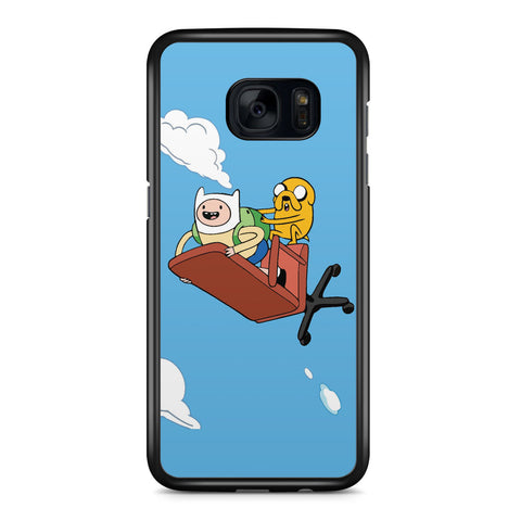 Adventure Time Flying Finn and Jack Samsung Galaxy S7 Edge Case Cover ISVA413