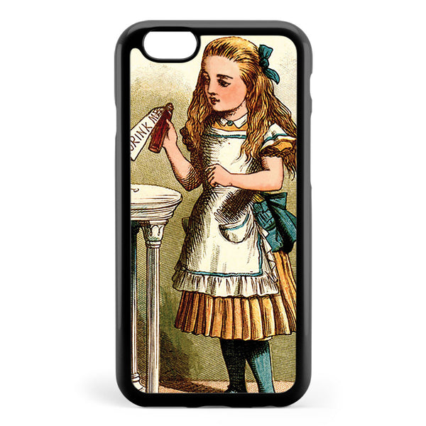 Alice in the Wonderland Drink Me Colour Vintage Illustration Dictionary Art Apple iPhone 6 / iPhone 6s Case Cover ISVH686