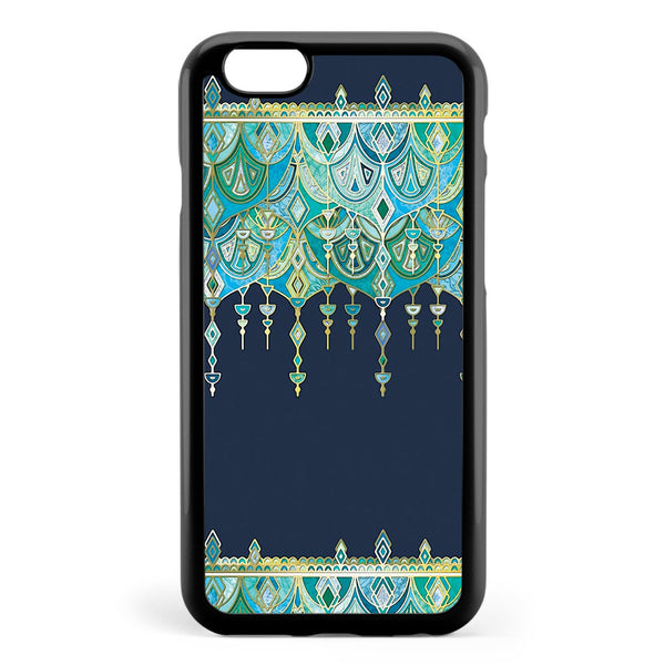 Art Deco Double Drop in Blues and Greens Apple iPhone 6 / iPhone 6s Case Cover ISVG007