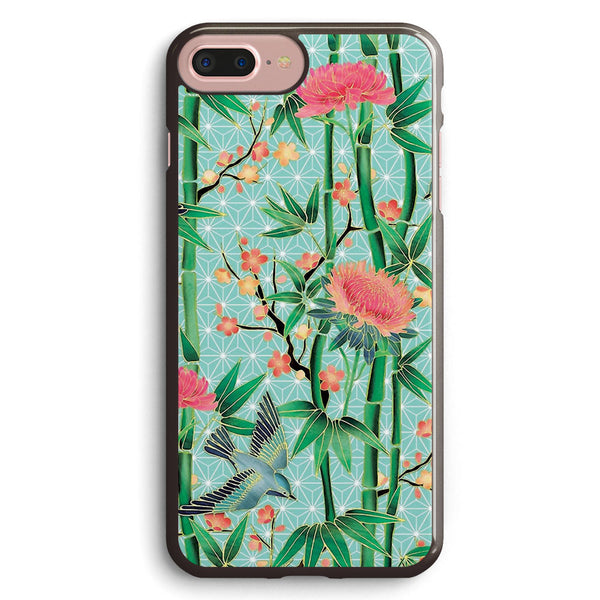 Bamboo, Birds and Blossom Soft Blue Green Apple iPhone 7 Plus Case Cover ISVG921