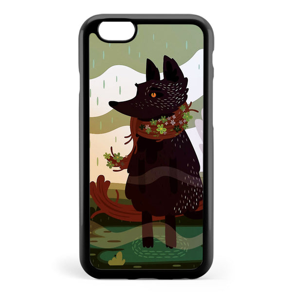 Black Fox in the Rain Apple iPhone 6 / iPhone 6s Case Cover ISVD855