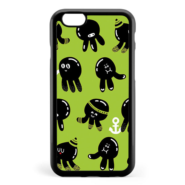 Black Cute Octopuses Apple iPhone 6 / iPhone 6s Case Cover ISVA826