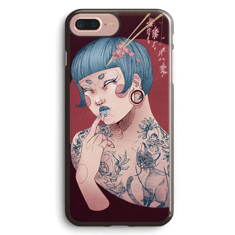 Blue Willow Tattoo Girl Apple iPhone 7 Plus Case Cover ISVB993