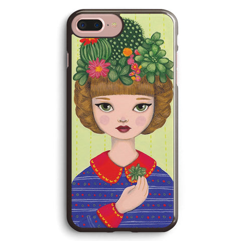 Cacti Girl with a Cacti Garden Apple iPhone 7 Plus Case Cover ISVC653