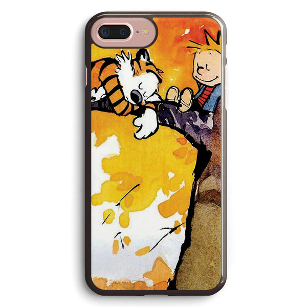 Calvin and Hobbes Sleep on Tree Apple iPhone 7 Plus Case Cover ISVE975