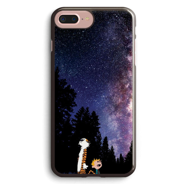 Calvin and Hobbes Staring Galaxy Apple iPhone 7 Plus Case Cover ISVE976