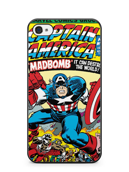 Captain America Comic Posters Apple iPhone 4 / iPhone 4S Case Cover ISVA138