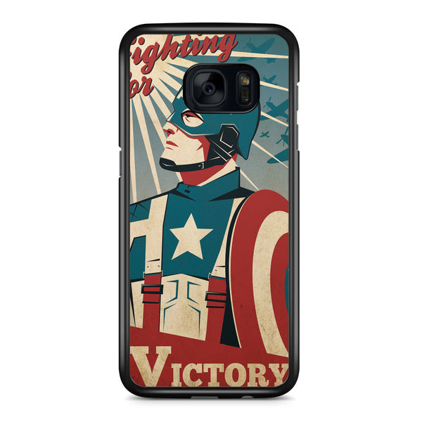Captain America Fight for Victory Samsung Galaxy S7 Edge Case Cover ISVA326
