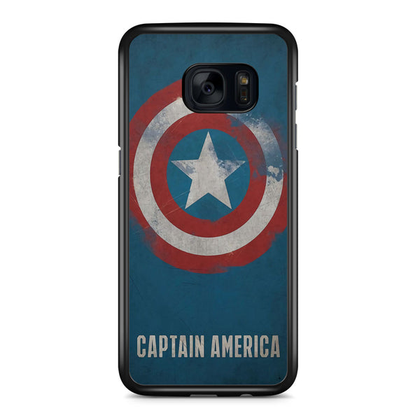 Captain America Grunge Logo Art Samsung Galaxy S7 Edge Case Cover ISVA324