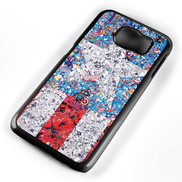 Captain America Logo Collage Samsung Galaxy S6 Case Cover ISVA325
