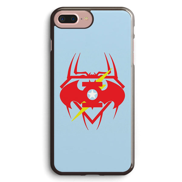 Captain Green Bat Flash Super Spiderman Apple iPhone 7 Plus Case Cover ISVF617