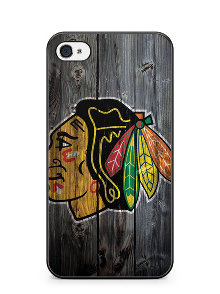 Chicago Blackhawks Wood Apple iPhone 4 / iPhone 4S Case Cover ISVA020