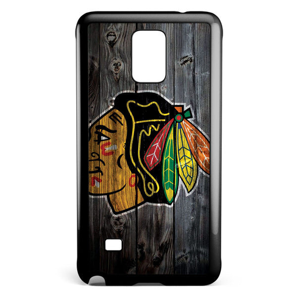 Chicago Blackhawks Wood Logo Samsung Galaxy Note 4 Case Cover ISVA582