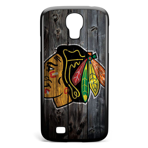 Chicago Blackhawks Wood Logo Samsung Galaxy S4 Case Cover ISVA582