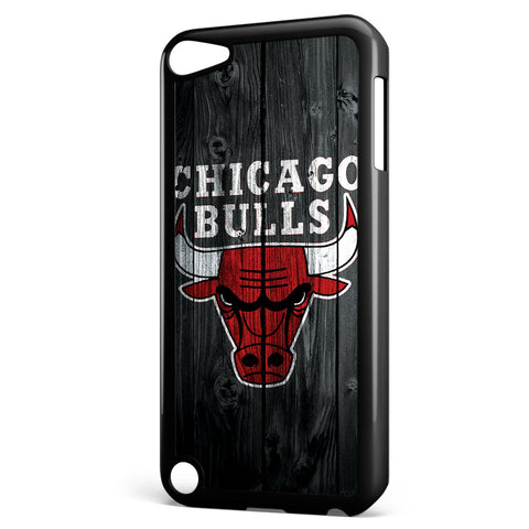 Chicago Bulls Wood Logo Apple iPod Touch 5 Case Cover ISVA592