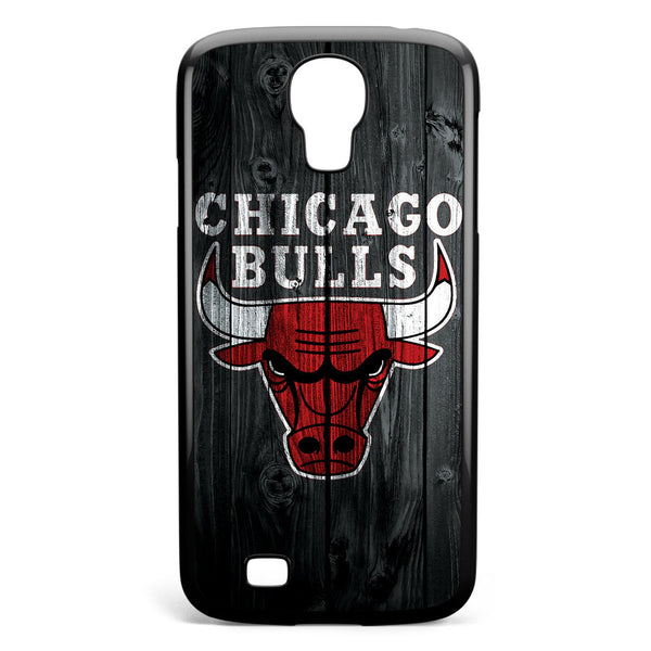 Chicago Bulls Wood Logo Samsung Galaxy S4 Case Cover ISVA592