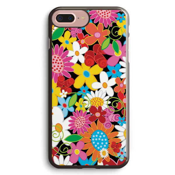 Colorful Whimsical Spring Flowers Garden Apple iPhone 7 Plus Case Cover ISVH760
