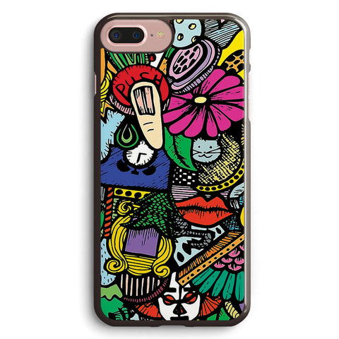 Colorful World Doodle Apple iPhone 7 Plus Case Cover ISVG053