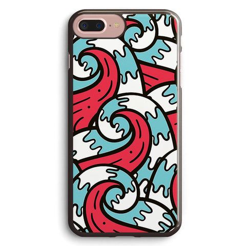 Crazy Tangle Doodle Sea Waves Pattern Apple iPhone 7 Plus Case Cover ISVE454