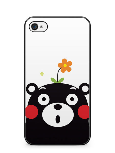 Cute Kumamon with Flower Apple iPhone 4 / iPhone 4S Case Cover ISVA493